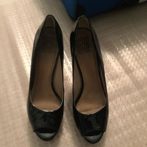 SUPER CUTE Black Patent Leather Heels!!